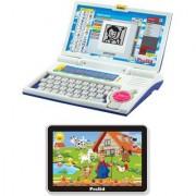 Prasid Combo Of English Learner Kids Laptop (Blue) & Small Old MacDonald Farm
