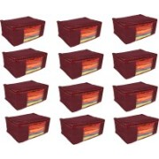 Fancy Walas Presents Non Woven Saree cover storage bags for clothes FW13_MRN_PK12(Maroon)