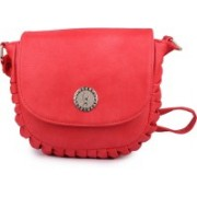 STYLEFASHION Girls Casual Red PU Sling Bag
