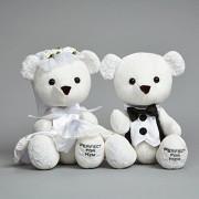 Enesco Insignia Bride and Groom Bears Plush 9.5 '[Parallel Import Goods]