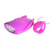 Fiets Verlichting met geluid Paars/Roze