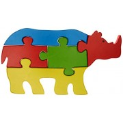 Skillofun Wooden Take Apart Puzzle Large - Rhinocerus, Multi Color
