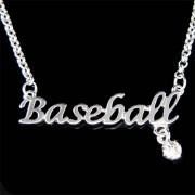 Swarovski Crystal Baseball Words SoftBall Ball Mom Necklace Jewelry