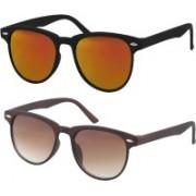 Fashno Wayfarer Sunglasses(Golden, Brown)