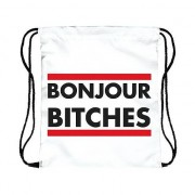 Geen Festival tasje Bonjour Bitches wit