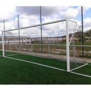 Jogo de gol de alumínio futebol 11 120x100 mm fixas