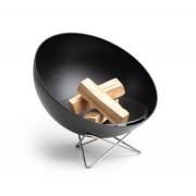 höfats BOWL Feuerschale mit Drahtfuß - schwarz - Ø 57 cm - Höhe 35,5 cm