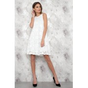 JFR White Wide Lace Dress - Sofie