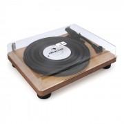 Auna TT Classic WD Retro-Plattenspieler USB Line-Out Lautsprecher Holz-Furnier