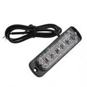 AST Works 12-24V 6LED Light Bar Flash Emergency Car Vehicle Warning Strobe Flashing Lamp