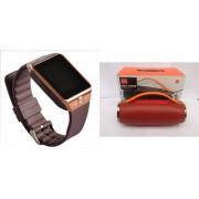 Zemini DZ09 Smart Watch and Mini Xtreme K5 + Bluetooth Speaker for LG OPTIMUS L4 DUAL(DZ09 Smart Watch With 4G Sim Card Memory Card| Mini Xtreme K5 + Bluetooth Speaker)