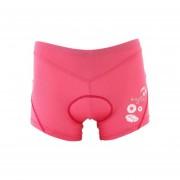 Pantalones Cortos Para Ciclista Silicio Acolchado Rosa TS003