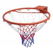 vidaXL Cesto de basquetebol com malha laranja e aro