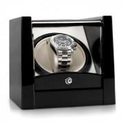 Klarstein Cannes Estuche para 1 reloj Negro lacado (WW1-Cannes -B)