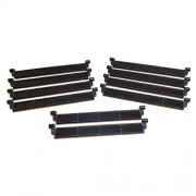 Lego Parts: City - Garage Roller Door Section without Handle (Service Pack of 10 - Black)