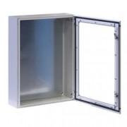 Techly Professional Armadio Rack 19'' a muro 17U grigio IP65 porta vetro prof. 200mm
