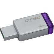 Stick USB Kingston DataTraveler 50, 8GB, USB 3.1 (Metal/Mov)