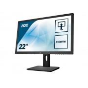 """Monitor TFT, AOC 21.5"""", E2275PWJ, 2ms, 200Mln:1, FlickerFree, DVI/HDMI, Speakers, FullHD"""