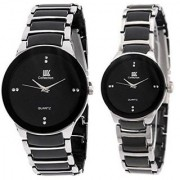 IIK silver women and man Collections Model Designer Couple RV012 Analog Watch - For Couple Men Women Boys Girls a1