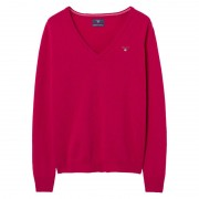 GANT Super Fine Lambswool V-neck Sweater - 626 - Size: XS