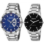 Skemi Analog Round Dial Men Watch / Fashionable Stainless Men Watch / Watches For Men Combo-045