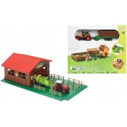 Farm With Animals And Tractor