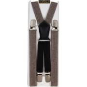Eccellente Y- Back Suspenders for Men, Women(Brown)
