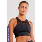 CRAFT Charge Cropped Mesh női top, fekete fekete