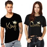 WE2 King And Queen Couple Cotton Tees Combo