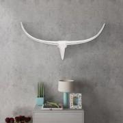 Декоративна алуминиева глава на бик за стена, сребриста, 96 см