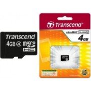 Transcend SDHC 4 GB MicroSD Card Class 4 4 MB/s Memory Card