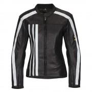 Női Bőr Motoros Kabát W-TEC NF-1173 13646/fekete-feher