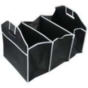 Swarish Leck Proof Collapsible Travel Trunk Car Boot Organizer(Black, White)