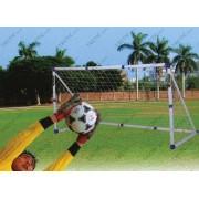 Robosztus junior műanyag football kapu 244x110x130cm, elemeire szedhető, mobil kapu
