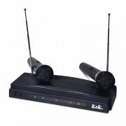 Set 2 microfoane wireless K&K AT-306, emisie FM