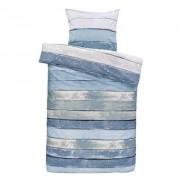 Comfort dekbedovertrek Xander blauw/groen - 140x200/220 cm - Leen Bakker