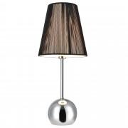 [lux.pro]® Asztali lámpa Magus szövet éjjeli lámpa design 48 x ø 20 cm fekete