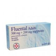 Sanofi Spa Fluental Adulti 500 Mg + 200 Mg Supposte 10 Supposte