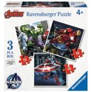 Puzzle Razbunatorii,25/36/49 Piese Ravensburger