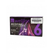 Wellion Medfine Plus 6mm 31g - 100 Aghi Sterili Per Penna Da Insulina