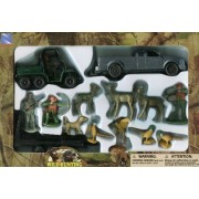 Hunting Play Set Metal Truck ATV Hunters Deer Pheasants Dog & MoreHunting Play Set Metal Truck ATV H