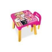 Mesa com Cadeira Barbie - Fun Divirta-Se