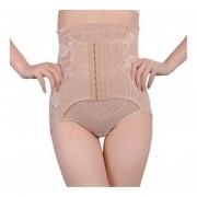 La mujer ropa de cintura alta cuerpo Barriga Panty Shapewear Control elevador Slim Beige