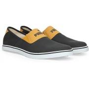 Puma Men's New Vulc Slip On Dark Grey and Yellow Boat Shoes - 10 UK/India (44.5 EU)