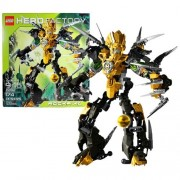 Lego Year 2011 Hero Factory Series 11 Inch Tall Figure Set #2282 - ROCKA XL with Meteor Blaster and Double Blade Claw Combo Tool (Total Pieces: 174)
