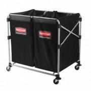 Carucior X-Cart pliant pentru rufe 2 x 150 L gri