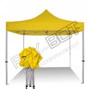 ray bot Gazebo pieghevole 3x3 giallo professionale senza laterali PVC 350g