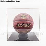 "Odoria Clear Acrylic Display Box Case 11.8"" Cube Big Size for Basketball Dustproof"