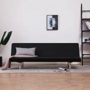 vidaXL Разтегателен диван, черен, полиестер