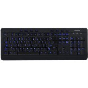 Tastatura Modecom MC-9006, multimedia, iluminata, USB (Negru)